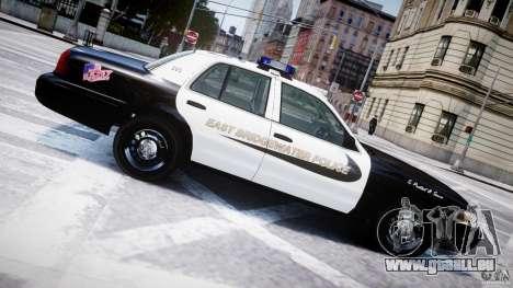 Ford Crown Victoria Massachusetts Police [ELS] für GTA 4 Unteransicht