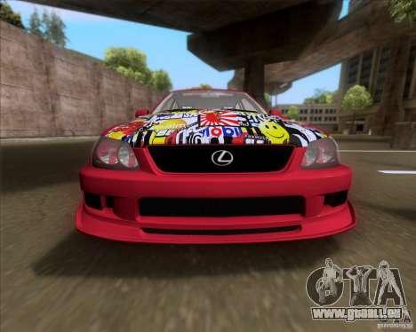 Lexus IS300 Hella Flush pour GTA San Andreas vue intérieure