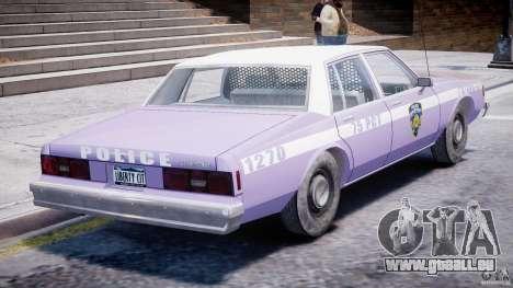 Chevrolet Impala Police 1983 v2.0 pour GTA 4 vue de dessus