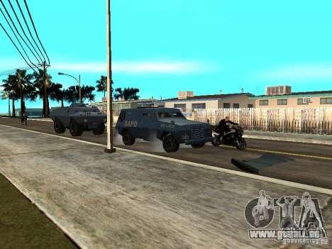 SWAT und FBI-Truck fahren durch die Straßen von für GTA San Andreas