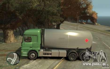 Mercedes Benz Actros Gas Tanker für GTA 4 Seitenansicht