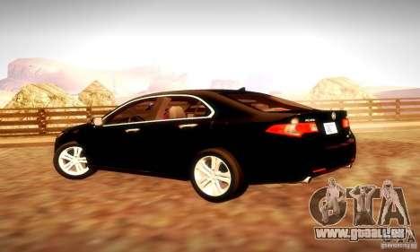 Acura TSX V6 pour GTA San Andreas vue intérieure