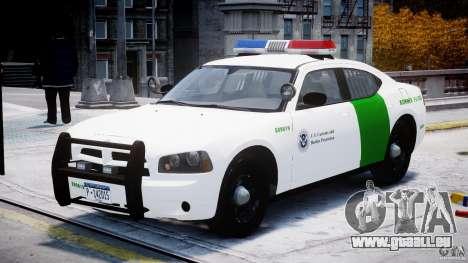 Dodge Charger US Border Patrol CHGR-V2.1M [ELS] pour GTA 4 Vue arrière
