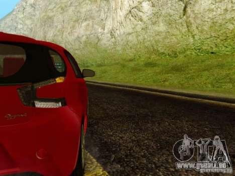 Aston Martin Cygnet pour GTA San Andreas vue arrière