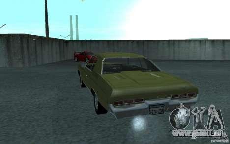 Chevrolet Impala 1971 pour GTA San Andreas vue arrière