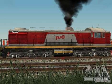 Tem2-6883 RZD pour GTA San Andreas sur la vue arrière gauche