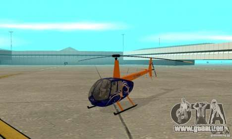 Robinson R44 Raven II NC 1.0 3 de la peau pour GTA San Andreas laissé vue