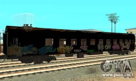 Custom Graffiti Train 1 pour GTA San Andreas sur la vue arrière gauche