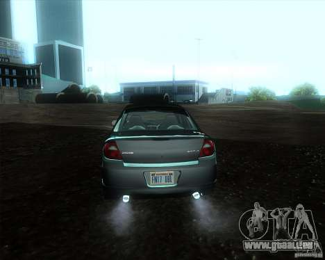 Dodge Neon pour GTA San Andreas sur la vue arrière gauche