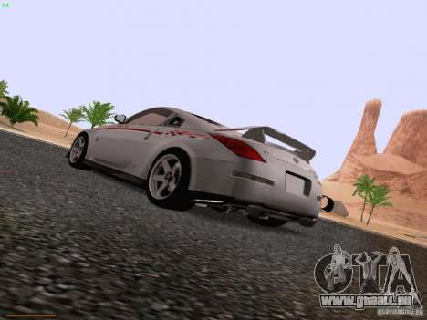 Nissan 350Z Nismo S-Tune für GTA San Andreas linke Ansicht