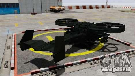 Ein Kampfhubschrauber AT-99 Scorpion für GTA 4 hinten links Ansicht