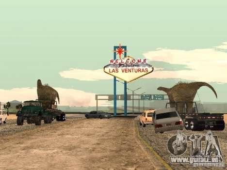 Dinosaurier-Trailer für GTA San Andreas linke Ansicht
