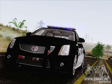 Cadillac CTS-V Police Car pour GTA San Andreas vue arrière