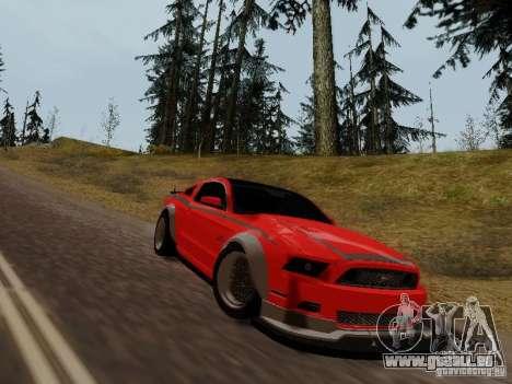 Ford Mustang RTR Spec 3 für GTA San Andreas zurück linke Ansicht