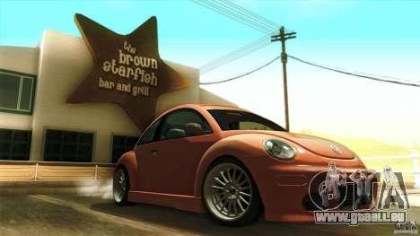 Volkswagen Beetle RSi Tuned für GTA San Andreas Unteransicht