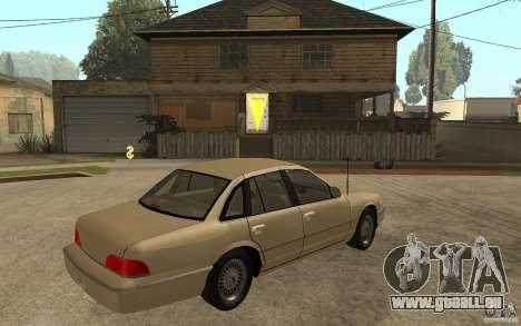 Ford Crown Victoria LX 1992 für GTA San Andreas rechten Ansicht
