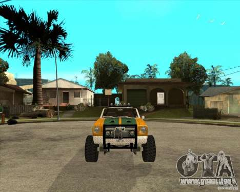 Ford Mustang Sandroadster pour GTA San Andreas vue arrière
