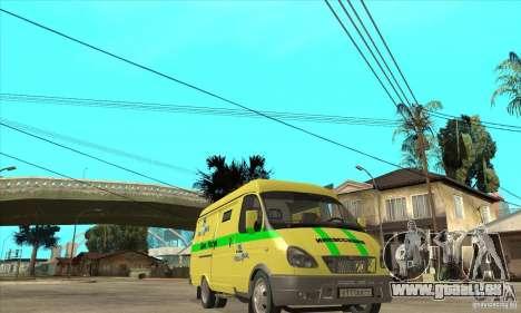 Gazelle du collecteur pour GTA San Andreas vue arrière