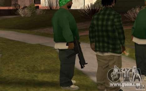 Nouveau MP5 avec lampe de poche pour GTA San Andreas troisième écran