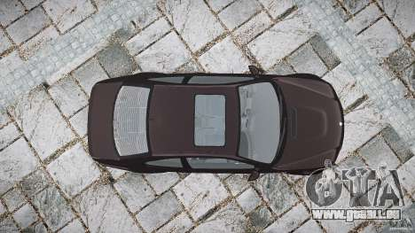 BMW M3 e46 2005 pour GTA 4 vue de dessus