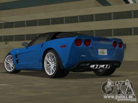 Chevrolet Corvette ZR1 pour une vue GTA Vice City de la gauche