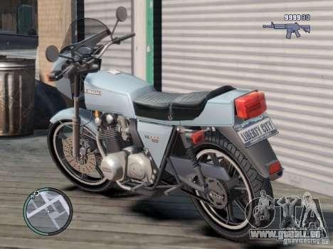 Kawasaki Z1-R für GTA 4 hinten links Ansicht