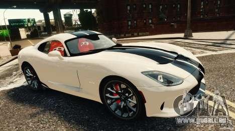 Dodge Viper GTS 2013 pour GTA 4 Vue arrière de la gauche