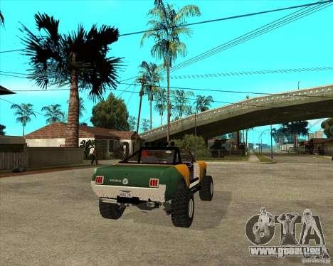 Ford Mustang Sandroadster für GTA San Andreas zurück linke Ansicht