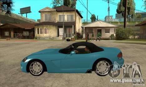 Dodge Viper SRT-10 pour GTA San Andreas laissé vue