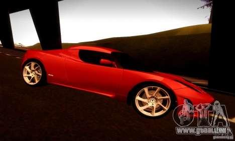 Tesla Roadster Sport für GTA San Andreas Rückansicht