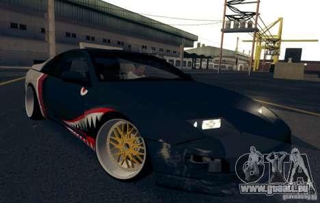 Nissan 300ZX Bad Shark pour GTA San Andreas vue de dessus