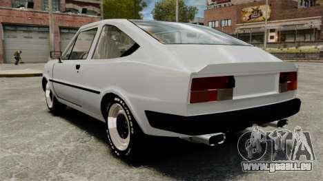 Skoda 120 Rapid v0.7 pour GTA 4 Vue arrière de la gauche