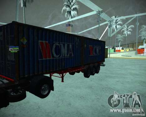 Container pour GTA San Andreas laissé vue