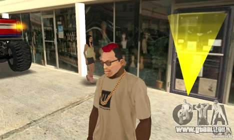 Red Mohawk and Black Stubbles für GTA San Andreas