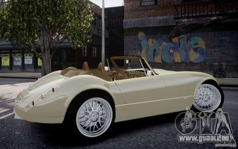 Wiesmann MF3 Roadster Final pour GTA 4 Vue arrière