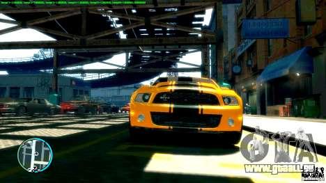 Shelby GT500 Super Snake 2011 pour GTA 4 Vue arrière de la gauche