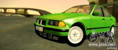 BMW E36 320i pour GTA San Andreas vue de dessous