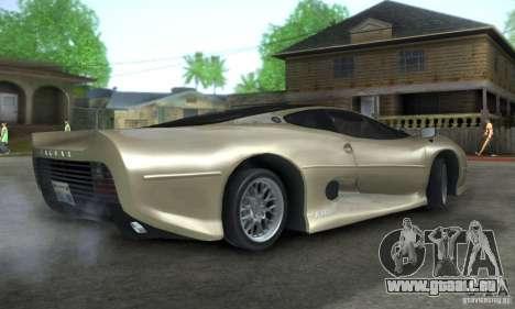 Jaguar XJ 220 Black Rivel pour GTA San Andreas vue de droite