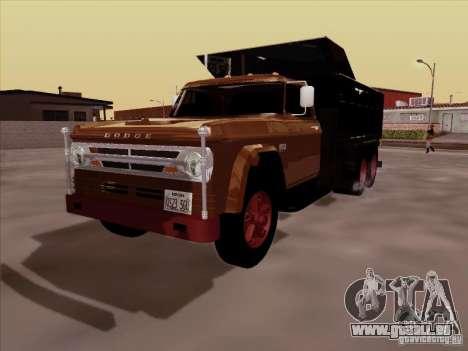 Dodge Dumper pour GTA San Andreas