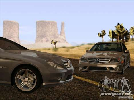 Mercedes-Benz CLS63 AMG pour GTA San Andreas vue intérieure