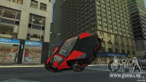 Lamborghini Reventon Police Hot Pursuit pour GTA 4 est un côté