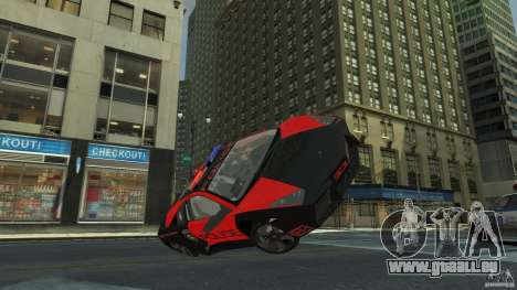 Lamborghini Reventon Police Hot Pursuit für GTA 4 Seitenansicht
