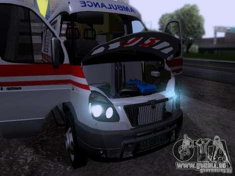 Gazelle 2705-Ambulanz für GTA San Andreas Rückansicht