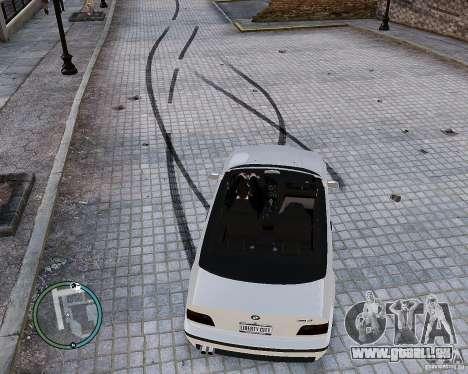 BMW M3 e36 1997 Cabriolet pour GTA 4 Vue arrière