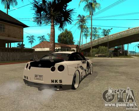 Nissan Skyline R35 für GTA San Andreas zurück linke Ansicht