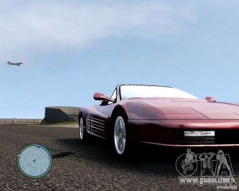 Ferrari Testarossa für GTA 4 Rückansicht