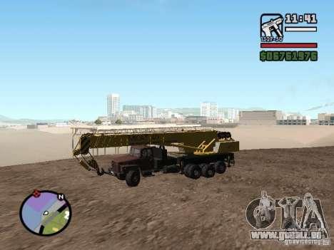 KrAZ-250 MKAT-40 für GTA San Andreas linke Ansicht