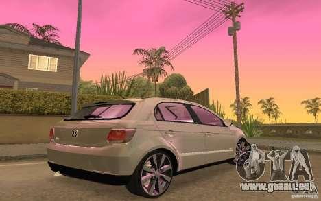 Volkswagen Gol G6 pour GTA San Andreas vue arrière