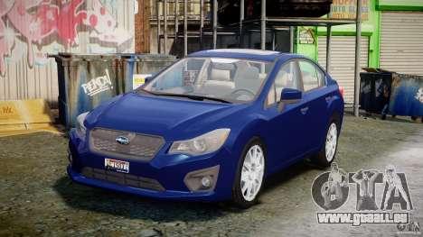 Subaru Impreza Sedan 2012 pour GTA 4