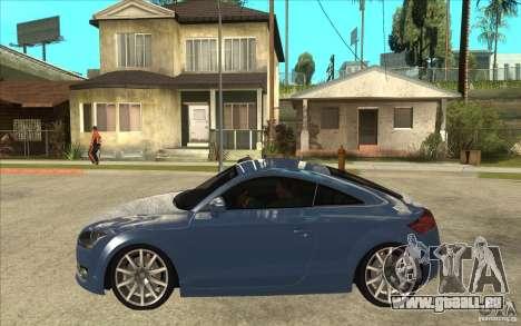 Audi TT 3.2 Coupe pour GTA San Andreas laissé vue